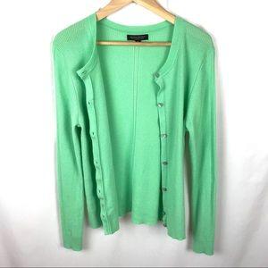 Banana Republic mint green merino wool cardigan